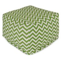 Majestic Home Goods Chevron Polyester Bean Bag Ottoman in Sage