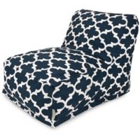 Majestic Home Goods Trellis Bean Bag Chair Lounger in Navy
