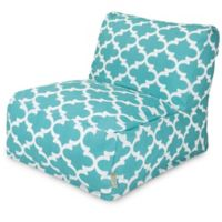 Majestic Home Goods Trellis Bean Bag Chair Lounger in Teal