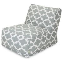 Majestic Home Goods Trellis Bean Bag Chair Lounger in Grey