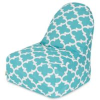 Majestic Home Goods Trellis Bean Bag Kick-It Chair in Teal