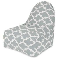 Majestic Home Goods Trellis Bean Bag Kick-It Chair in Grey
