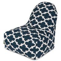 Majestic Home Goods Trellis Bean Bag Kick-It Chair in Navy