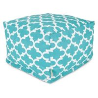 Majestic Home Goods Trellis Bean Bag Ottoman in Teal