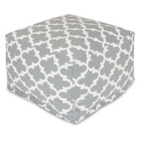 Majestic Home Goods Trellis Bean Bag Ottoman in Grey