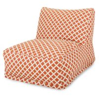 Majestic Home Goods Bamboo Bean Bag Chair Lounger in Burnt Orange