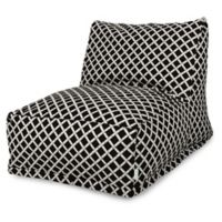 Majestic Home Goods Bamboo Bean Bag Chair Lounger in Black