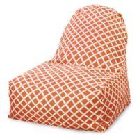 Majestic Home Goods Bamboo Bean Bag Kick-It Chair in Burnt Orange