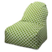 Majestic Home Goods Bamboo Bean Bag Kick-It Chair in Sage