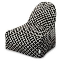Majestic Home Goods Bamboo Bean Bag Kick-It Chair in Black