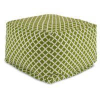 Majestic Home Goods Bamboo Bean Bag Ottoman in Sage