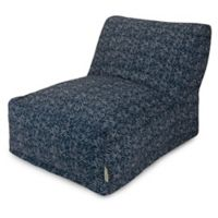 Majestic Home Goods South West Bean Bag Chair Lounger in Navy