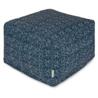 Majestic Home Goods South West Bean Bag Ottoman in Navy