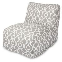 Majestic International Kick-It Athens Bean Bag Chair Lounger in Grey