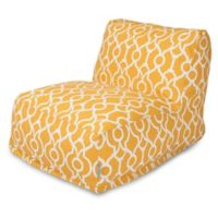 Majestic International Kick-It Athens Bean Bag Chair Lounger in Citrus