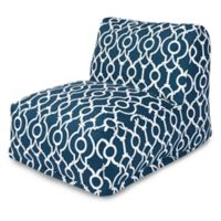 Majestic International Kick-It Athens Bean Bag Chair Lounger in Navy