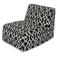Majestic International Kick-It Athens Bean Bag Chair Lounger in Black