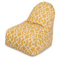 Majestic International Kick-It Athens Bean Bag Chair in Citrus