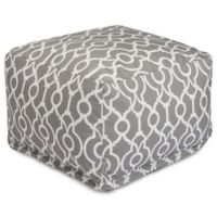 Majestic International Kick-It Athens Bean Bag Ottoman in Grey
