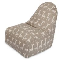 Majestic Home Goods Stretch Bean Bag Kick-It Chair in Maple