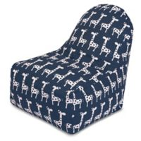 Majestic Home Goods Stretch Bean Bag Kick-It Chair in Navy
