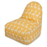 Majestic Home Goods Stretch Bean Bag Kick-It Chair in Yellow