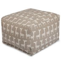 Majestic Home Goods Stretch Bean Bag Ottoman in Maple
