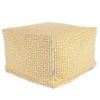 Majestic International Kick-It Towers Bean Bag Ottoman in Citrus