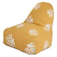 Majestic International Kick-It Coral Bean Bag Chair in Yellow