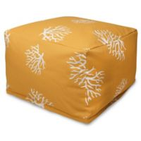 Majestic International Kick-It Coral Bean Bag Ottoman in Yellow