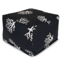 Majestic International Kick-It Coral Bean Bag Ottoman in Black