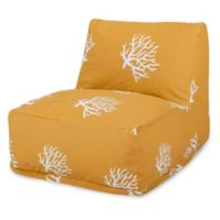 Majestic International Kick-It Coral Bean Bag Chair Lounger in Yellow
