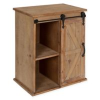Kate and Laurel Cates Side Table in Rustic Brown