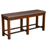 Artisan Counter Height Wood Dining Bench in Pecan