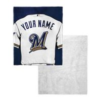MLB Milwaukee Brewers Personalized Silk Touch Sherpa Throw Blanket