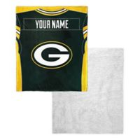 NFL Green Bay Packers Personalized Silk Touch Sherpa Throw Blanket