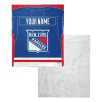 NHL New York Rangers Silk Touch Sherpa Throw Blanket