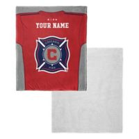 MLS Chicago Fire Personalized Silk Touch Sherpa Throw Blanket