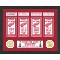 NHL Detroit Redwings Deluxe Banner Photo Mint
