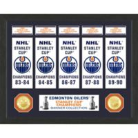 NHL Edmonton Oilers Deluxe Banner Photo Mint
