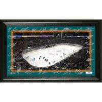 NHL San Jose Shark Signature Rink Photo Mint