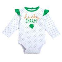 babyGEAR™ Size 9M Lucky Charm Bodysuit in Green