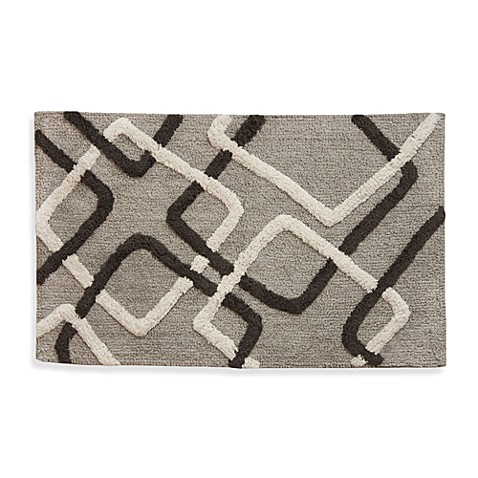 Lacey Multi Colored Geometric Shapes Bath Rug