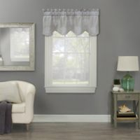 Clearwater Coral Embroidered Window Valance in Grey