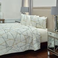 Rizzy Home Julian Queen Quilt in Ivory