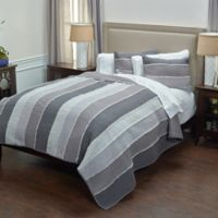 Rizzy Home Olivia King Quilt in Grey