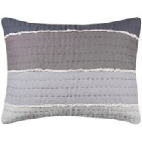 Rizzy Home Olivia Standard Pillow Sham in Gray