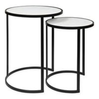 Kate and Laurel 2-Piece Gracen Nesting Tables in White
