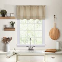 Maison Kitchen Window Valance in Linen