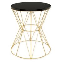 Kate and Laurel Mendel Side Table in Gold/Black
